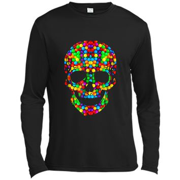 Candy Skull Sugar  Day Of The Dead Long Sleeve Moisture Absorbing Shirt