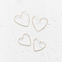 Heart Hoop Earring Set | Urban Outfitters
