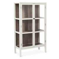 "Vista 56"" Library Cabinet with Glass - Shell - Threshold™"