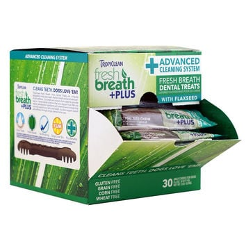 Tropiclean Fresh Breath Plus Dog Dental Reg Chews 30 ct