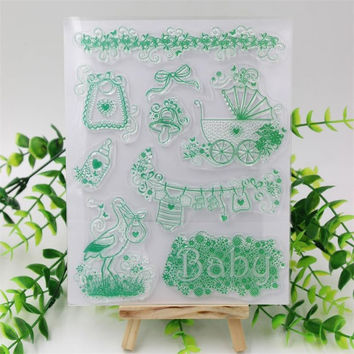 Baby Transparent Clear Silicone Stamp Seal for DIY scrapbooking photo album Decorative clear stamp sheets