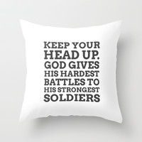 Keep your head up - COLOR2 Throw Pillow by cooledition