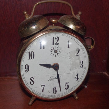 Charming 1950's Vintage Gabriel Copper Alarm Clock by Robert Shaw Controls Lebanon Tennessee Not Working Needs Repair Great for Parts