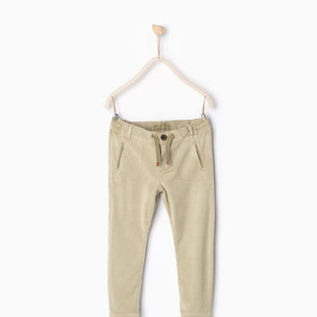 Twill stretch trousers