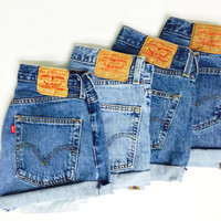 High Waisted Denim Shorts - Vintage Levi's - All Sizes Available