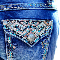 GRACE IN L.A. CLIFF POINT BOOTCUT JEANS