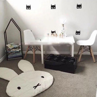 New Lovely Rabbit Crawling Blanket Carpet Floor Baby Play Mats Children Room Decoration Play Rugs Creeping Mat Size 106*68CM