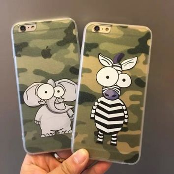 Iphone 6/6s Cute Hot Deal Hot Sale Stylish On Sale Camouflage Apple Iphone Couple Soft Phone Case [6034113281]