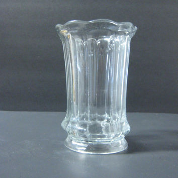 Shop Vintage Clear Glass Vase On Wanelo