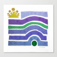 :: Princess n' Pea (purply) :: Stretched Canvas by GaleStorm Artworks