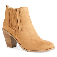 Aeropostale  Womens Heeled Slip On Booties - Brown, 6