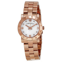 Marc Jacobs Mini Amy White Dial Rose Gold-tone Stainless Steel Ladies Watch