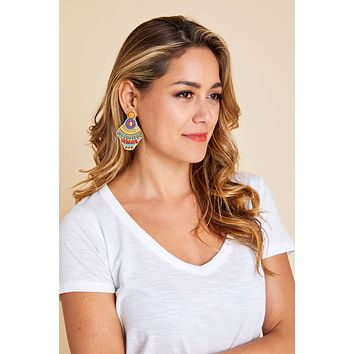 Multi Color Lightweight Beaded Earrings