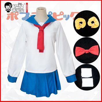 HSIU Pipimi & popko Cosplay Sets POP TEAM EPIC Costume Play Sailor suit Japanese-style student Halloween Costumes free shipping