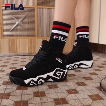Fila Classic Jamal Mashburn MB1 Black Baskerball Shoes Women Sneaker - Best Online Sale
