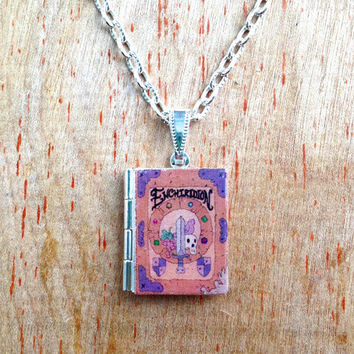 The Enchiridion  - Adventure Time - Hero's Handbook - Literary Locket - Book Locket Necklace