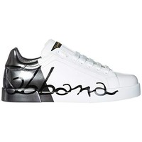 Dolce & Gabbana Men's Shoes Leather Trainers Sneakers Portofino White