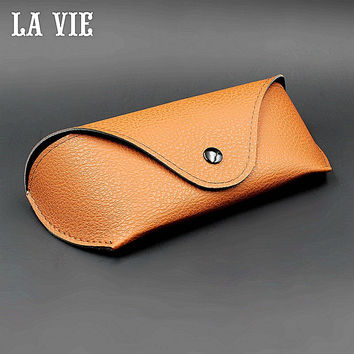 Durable PU Leather Professional Glasses Case Vintage Sunglasses Eyeglasses Storage Holder Retro Box Cases Zeiss Lens Wipe Gift