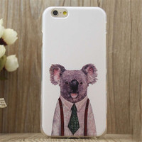 Mr.Bear Print iPhone 5/5S/6/6S/6 Plus/6S Plus creative case Gift Very Light creative case-26