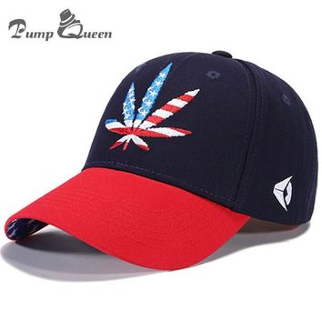 Trendy Winter Jacket Pump Queen High Quality Baseball Cap Hemp Leaf USA Flag Embroidery Hats Men Women Hip Hop Snapback Hat Unisex Summer Cotton Caps AT_92_12