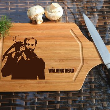 ikb562 Personalized Cutting Board series walking dead fan gift design board