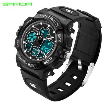 SANDA Brand Waterpoof Sport Children Watch Kids Watches Girls Boys Electronic Clock Child LED Digital Wristwatches for Girl Boy