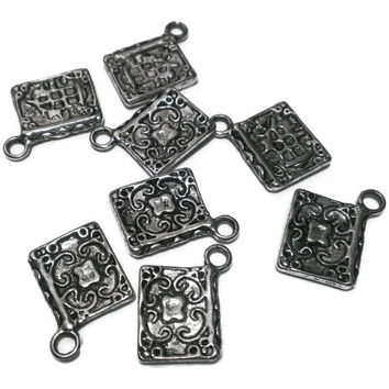 Book Charm, Storybook, Literature Antique Silver, DIY craft, Wholesale supply, finding, Bracelet, Earring, Literary, Proceeds Charity