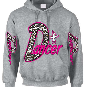 Dancer White Leopard women's Hoodies