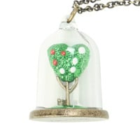 Disney Alice In Wonderland Queen Of Hearts Tree Necklace