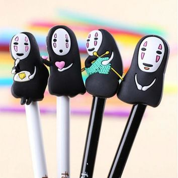 Cartoon No Face Man Stationery Gel Pen Learning Essential Stylus Pen Kawaii Japanese Anime Pen Promotional Gift Stationery XM30