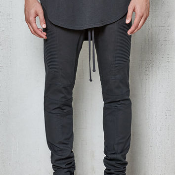 PacSun Drop Skinny Moto Black Stretch Jogger Pants at PacSun.com