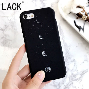 Simple Pattern Space Eclipse of the Moon case For iPhone 7 Hard frosted Fashion phone cases Back Cover For iphone 7 6 6S Plus