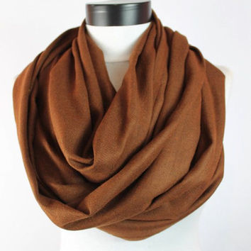 cinnamon pashmina scarf,infinity scarf, scarf, scarves, long scarf, loop scarf, gift