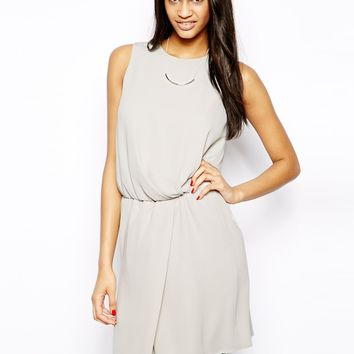 ASOS Shift Dress With Drape Front