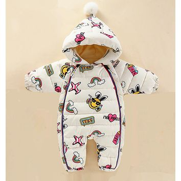2019 New Baby rompers Overalls Clothes Winter Boy Girl Garment Thicken Warm Pure Cotton Outerwear coat jacket kids Snow Wear