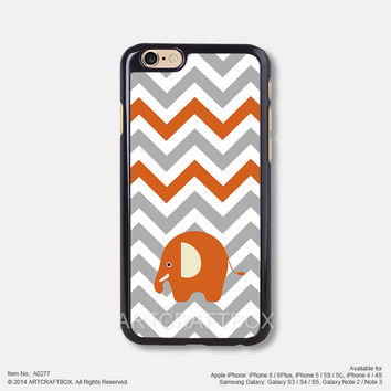 Chevron Orange Elephant iPhone 6 6Plus case iPhone 5s case iPhone 5C case iPhone 4 4S case 277