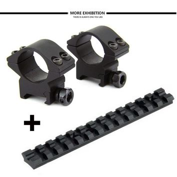 "Tactical 88 Shotgun Mossberg 500/590/835 Picatinny Weaver Targeted Track Mount and Slim 1 ""Rifle Scope Mount Ring"