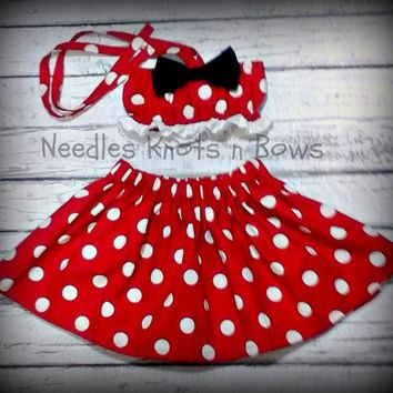 Girls Minnie Mouse Cake Smash Set, Girls First Birthday Outfit, Girls Birthday Cake Smash Outfit