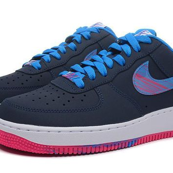 PEAPON Nike Air Force 1 488298-423 Black Blue For Women Men Running Sport Casual Shoes Sneakers