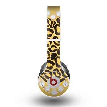 The Yellow Heart Shaped Leopard Skin for the Beats by Dre Original Solo-Solo HD Headphones