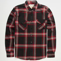 Coastal Still Dre Mens Flannel Shirt Black  In Sizes