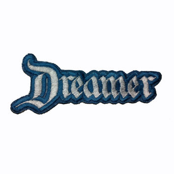 Your Name in Disneyland-style Font Embroidered Patch. Any two color combinations