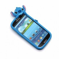 Disney Stitch Hide and Seek Silicone Case Cover for Samsung Galaxy S III/S3 GT-I9300 - Blue