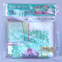 80pcs Pull-out Plastic Bags Hello Kitty with lovely rose pattern by Sanrio