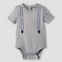 Baby Boys' Suspenders Bodysuit Cat & Jack™ - Gray