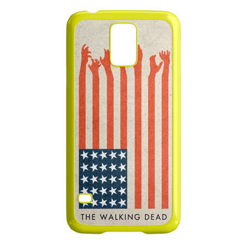 the walking dead america flag Samsung Galaxy S5 Case