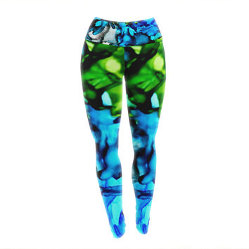 "Claire Day ""Chesapeake Bay"" Yoga Leggings"