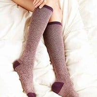 Two-Toned Marled Knee-High Sock-