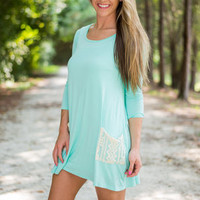 Sky Is The Limit Tunic, Mint