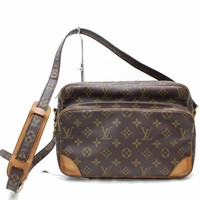 Authentic Louis Vuitton Shoulder Bag Nile M45244 Browns Monogram 180878
